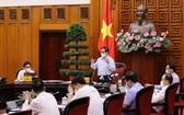 政府總理范明政主持會議。(圖源:楊江)