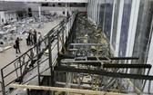 倒塌後的會堂場面一片狼藉。(圖源:互聯網)