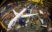 波音提供的787生產車間照片。