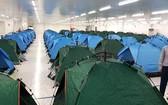 北寧工業區工廠內食宿的模式。(圖源:VOV)