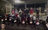 被抓獲的非法聚集青少年團夥。(圖源:市交警局)