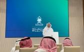 朝覲事務部副大臣阿卜杜勒-法塔赫·穆沙特在當天的記者會上發言。(圖源:視頻截圖)