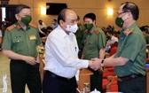 國家主席阮春福會見公安部領導。(圖源:越通社)