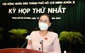 市人民議會主席阮氏麗會上致詞。(圖源:越勇)