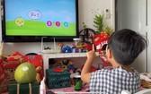 在Android Tv系統上邊玩耍邊學習。