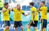 瑞典球隊慶祝進球。(圖源:互聯網)