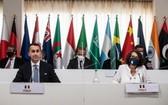 6月29日,二十國集團輪值主席國意大利外長迪馬約在意大利馬泰拉主持會議。(圖源:新華社)