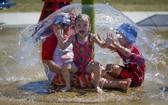 當地迎來高溫,民眾戲水消暑。(圖源:互聯網)
