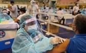 為本市民眾接種新冠疫苗。