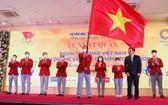 參加2020年東京奧運會越南體育代表團出征儀式現場。(圖源:貴亮)