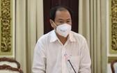 市衛生廳副廳長阮懷南在新聞發佈會上發言。(圖源:VTC News)