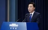 韓國青瓦台與民溝通首席秘書朴秀賢19日在記者會上表示,韓總統文在寅不會在東京奧運期間訪問日本。(圖源:青瓦台)