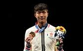 中國香港運動員張家朗奧運花劍奪金