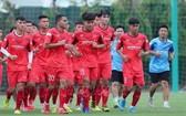 越南U22球員進行訓練。(圖源:越通社)
