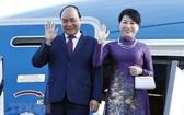 國家主席阮春福與夫人。(圖源:越通社)