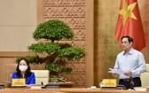 政府總理范明政會上致辭。(圖源:VGP)