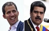 委內瑞拉反對派領袖瓜伊多(左)與現任總統馬杜羅(右)。(圖源:AFP)