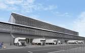 日本成田機場附近的新開批發市場一景。(圖源:共同社)
