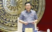 國會主席王廷惠在會上發言。(圖源:越通社)