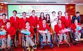 越南殘疾運動員代表團。(圖源:越通社)