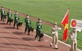 開幕式上越南專業訓犬隊入場。(圖源:越通社)