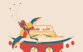 """""""白鶴""""形象的海報。"""