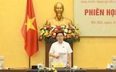國會主席王廷惠主持會議並發言。(圖源:Quochoi.vn)