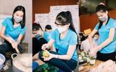 許多佳麗參加「愛心食堂」活動。