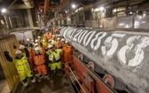 """當地時間9月6日,""""北溪-2""""天然氣管道項目第二條支線的最後一節管道完成焊接。(圖源:Nord Stream AG)"""