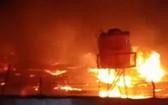 火災現場。(圖源:印度尼西亞之聲)