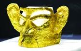 中國三星堆新出土完整金面具