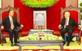 阮富仲總書記接見中國外長王毅