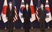 美、日、韓三國官員6月21日在首爾就朝鮮核問題進行三邊會談。 (圖源:U.S. Embassy Seoul推特)