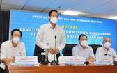 市人委會主席潘文邁在新聞發佈會上致詞。(圖源:T.N)