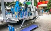 流動接種車也有齊全的基本急救設備。