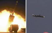 朝鮮試射最新研製的遠程巡航導彈。(圖源:朝中社)