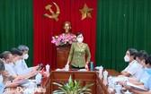 同奈省人委會副主席阮氏煌在會議上發言。(圖源:同奈報)