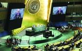 古特雷斯在聯合國大會一般性辯論開幕式上致辭。(圖源: 新華社)