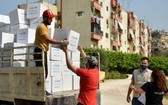 衛生用品包分發給受黎巴嫩貝魯特港口爆炸影響的家庭。(圖源:聯合國)
