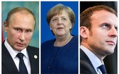 俄羅斯總統普京、德國總理默克爾和法國總統馬克龍11日通電話,討論烏克蘭局勢等問題。(圖源:互聯網)