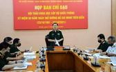 阮新疆上將在新聞發佈會上發表指導意見。(圖源:人民軍隊報)