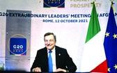 意大利總理德拉吉在羅馬主持二十國集團阿富汗問題領導人特別峰會。(圖源:互聯網)