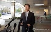 韓外交部韓半島和平交涉本部長魯圭悳在朝核問題磋商韓美首席代表會議結束後發表磋商結果。(圖源:韓聯社)