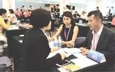 西旅與越旅代表與廈門旅遊社洽談。(圖片來源:曉東)