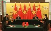 越中簽署15份重要合作文件。(圖片來源:VOV)