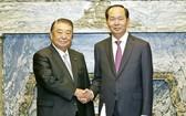 國家主席陳大光會見日本眾議院 議長大島理森。