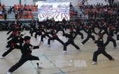 在本市舉行的國際傳統武術節。