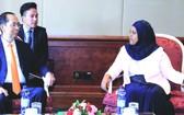 國家主席陳大光與克里婭‧易卜拉欣議長會晤。