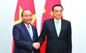 政府總理阮春福會見中國國務院總理李克強。