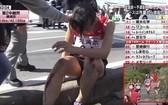 骨折女選手飯田憐。